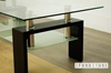 Picture of HORIZON Glass Coffee Table * Black