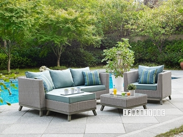 Picture of VALENCIA 4 PC Patio Sofa Set * Aluminum Frame