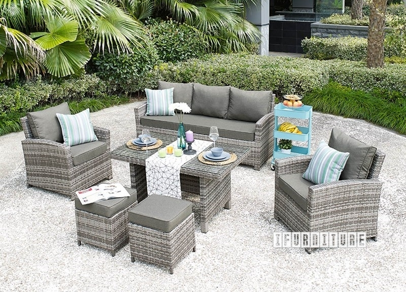 Picture of VALENCIA 6 PC Patio Sofa And Dining Set *Aluminum Frame