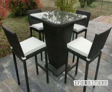 Picture of TAUPO 5pcs Patio Rattan Bar Set