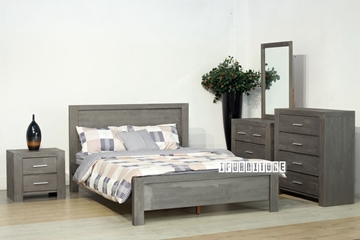 Picture of PHILIPPE Solid Acacia QUEEN BEDROOM 8 PCS SET