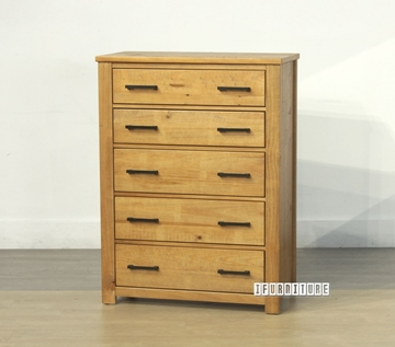 Picture of VINCENT5 Drawer Tallboy *Solid NZ Pine