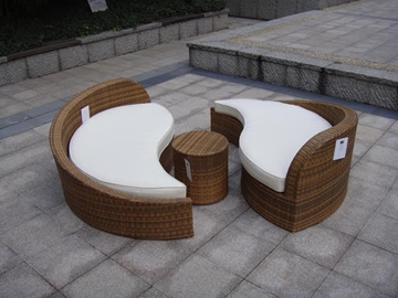 Picture of Taiji 3pcs Rattan Patio Sofa Set
