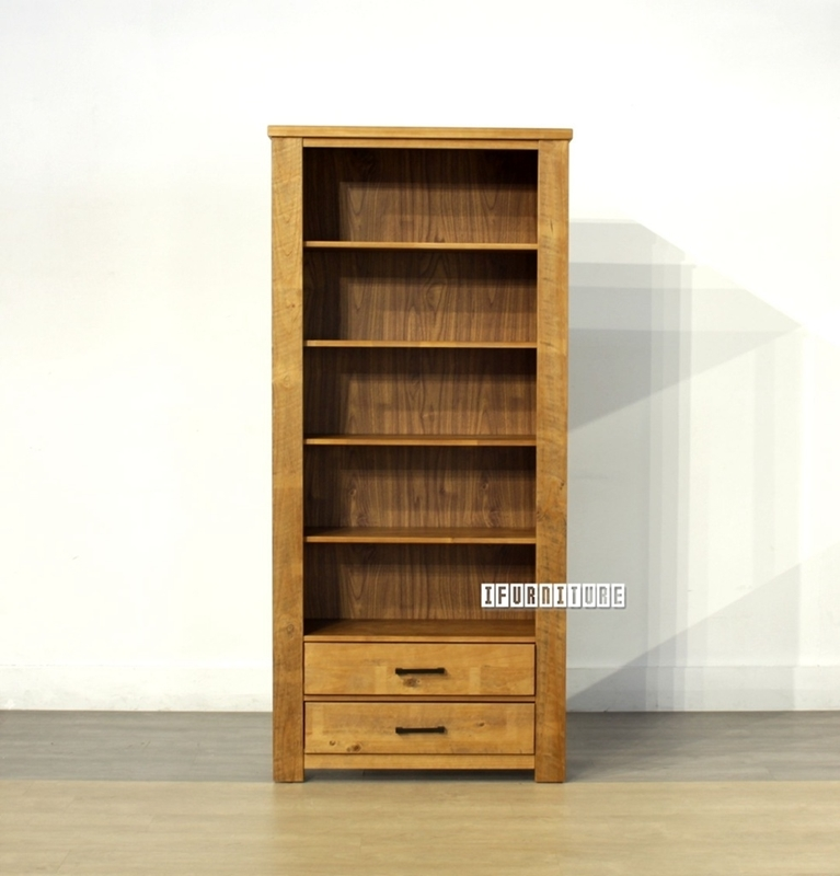 Picture of VINCENT 2 Drawer Book Shelf *Solid NZ Pine
