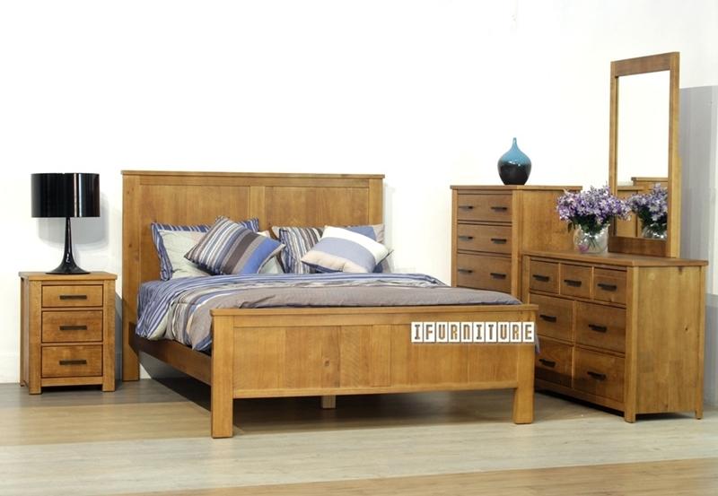 Picture of VINCENT Queen 5 pcs Bedroom Set *Solid NZ Pine