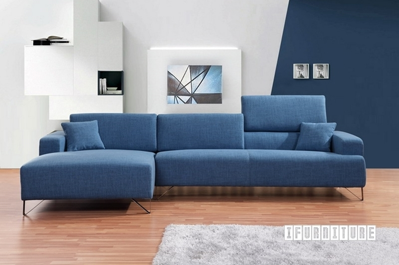 SMARTVILLE SECTIONAL Sofa in Blue Color