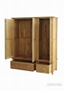 Picture of NEWLAND Solid OAK Triple Wardrobe on Drawer