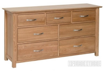 Picture of NEWLAND Solid Oak 3 Over 4 Chest / Dressing Table