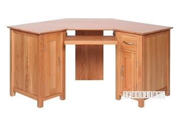Picture of NEWLAND Solid Oak Corner Desk