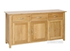 Picture of NEWLAND Solid Oak 3 Drawer Sideboard