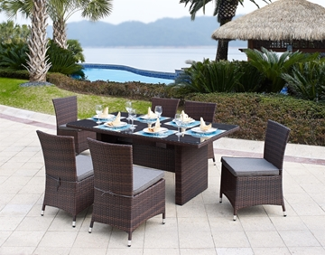 Picture of BANAS Rattan Outdoor 7PC Table Set