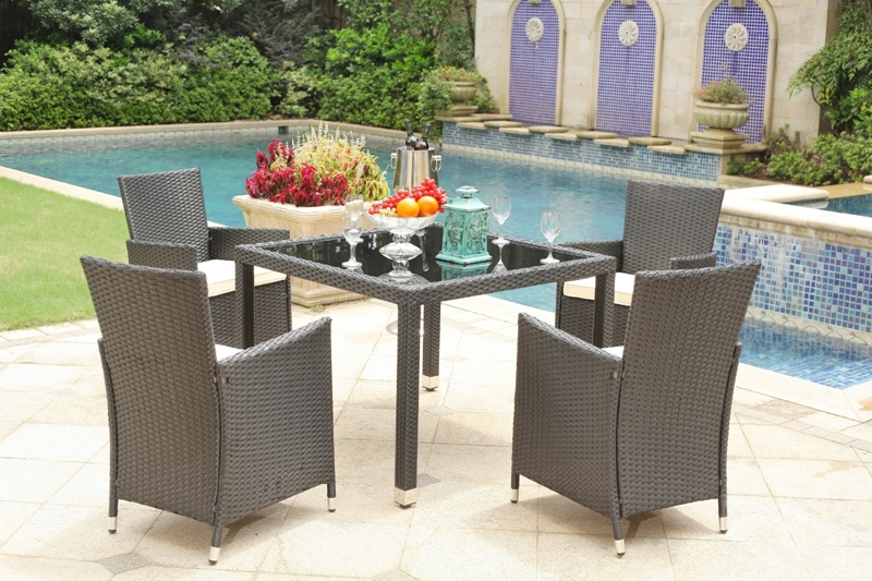 Picture of BANAS Rattan Outdoor 5PC Table Set