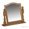 Picture of RIVERLAND Solid OAK Pedestal Mirror