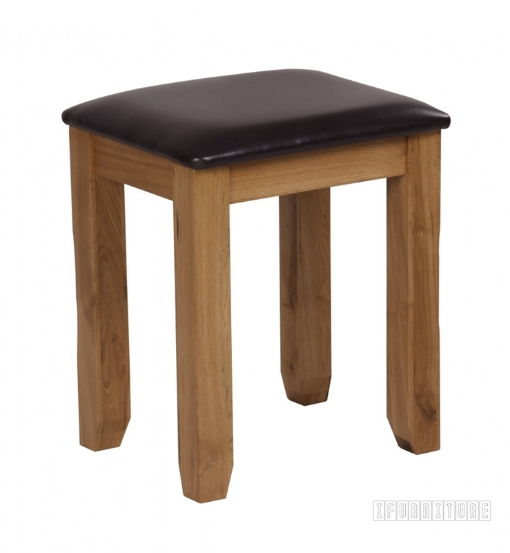 Picture of RIVERLAND Solid OAK Dressing Stool