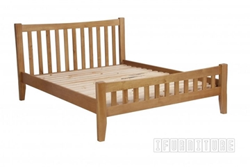 Picture of RIVERLAND Solid OAK Platform Bed in Queen Size