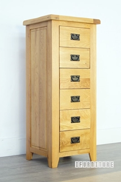 Picture of RIVERLAND Solid OAK 6 Drawer Wellington