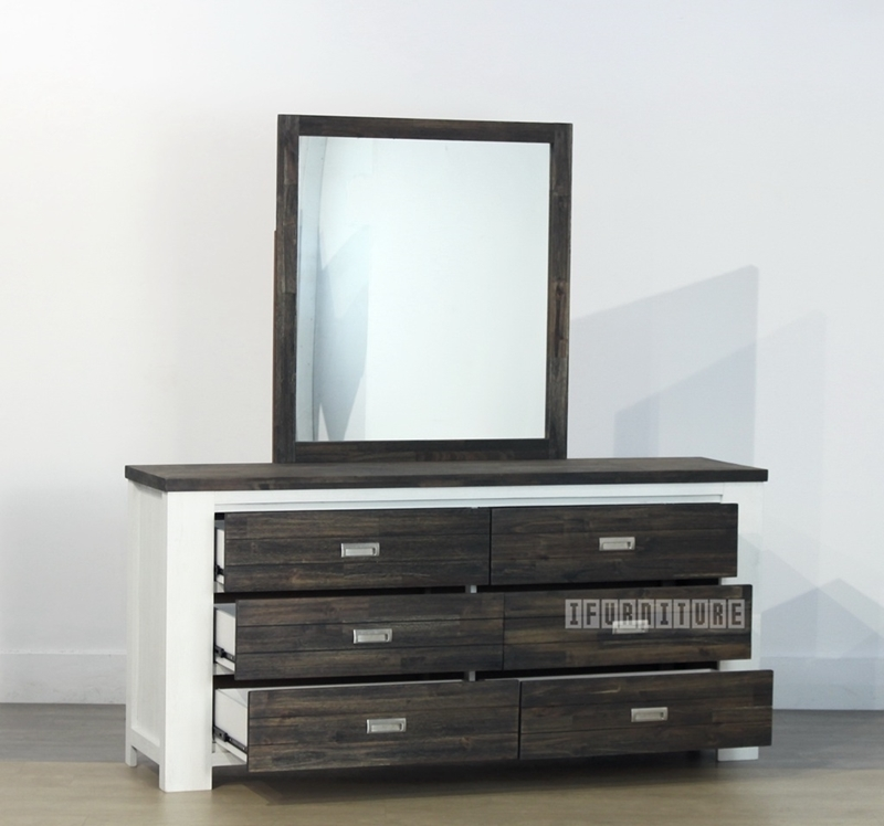 Picture of FREIDA Acacia Dressing Table and Mirror