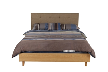 Picture of COPENHAGEN Fabric Platform Bed   in Queen Size
