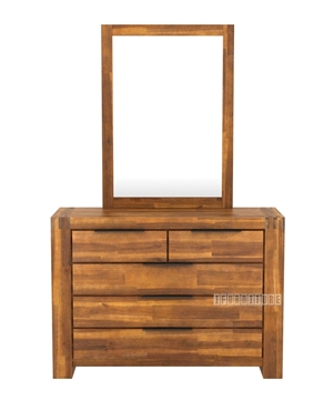 Picture of ASTON Acacia Dressing Table + Mirror