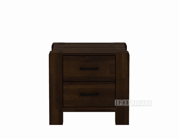 Picture of LARRY Acacia 2 Drawer Nightstand / Bedside Table