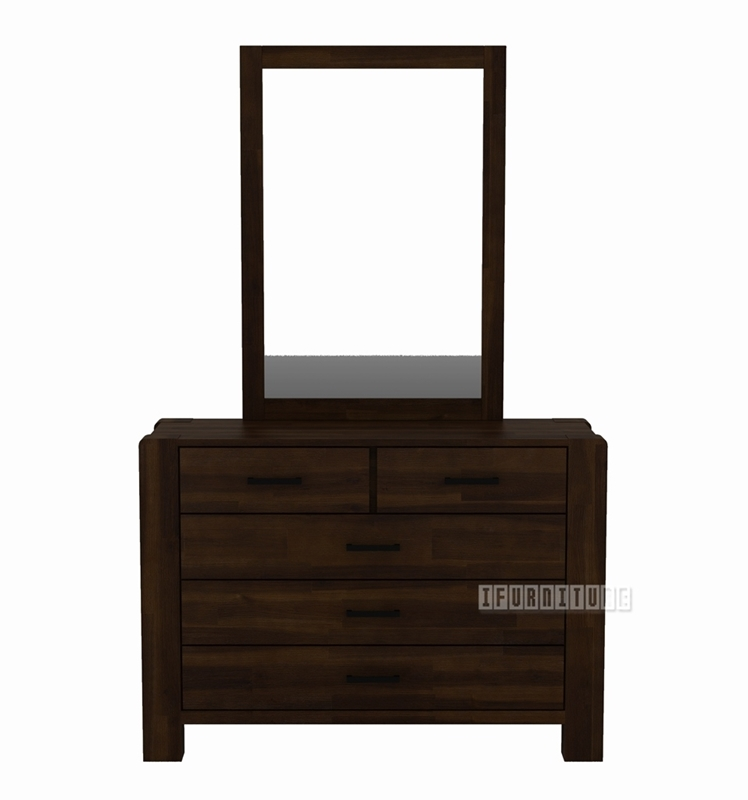 Picture of LARRY Acacia Dressing Table + Mirror