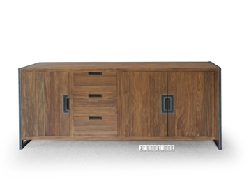 Picture of SUMATRA SUMATT02 3 Door 3 Drawer  Solid Teak Sideboard