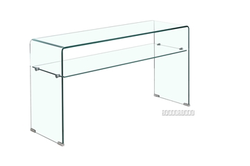 Picture of MURANO Bent Glass Console Table with shelf