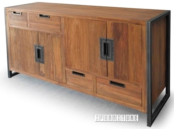 Picture of SUMATRA SUMATT01 4 Door 4 Drawer Solid Teak Sideboard