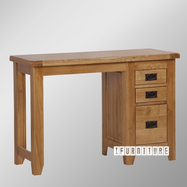Riverland Solid Oak Single Pedstal Table Ifurniture The