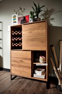 Picture of NEVADA Highboard *Solid European Wild Oak