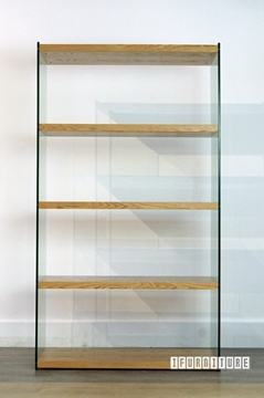 Picture of LENZO Glass Display Shelf in Ash Veneer