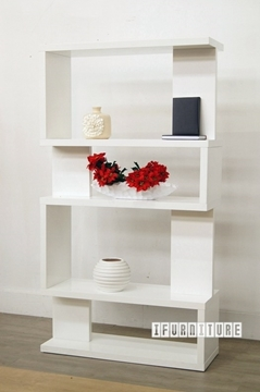 Picture of LONGITUDE Book Shelf /Room Divider *Matt White