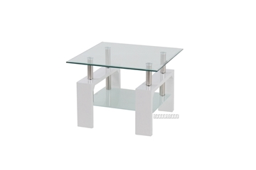 Picture of HORIZON Glass Side Table *White
