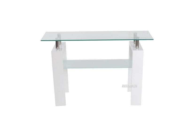 Picture of HORIZON Glass Console Table with High Gloss * White