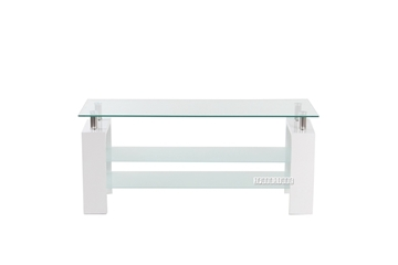 Picture of HORIZON Glass TV Unit *White
