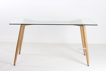 Picture of CREWE Glass Rectangle Dining Table