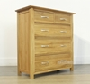 Picture of NEWLAND Solid Oak 2 Over 3 Chest /Tallboy
