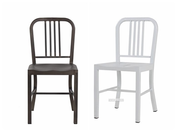 Picture of NAVY Metal Dining Chair *White,Gun