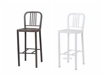 Picture of NAVY Metal Bar Stool *White,Gun