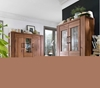 Picture of CARDIFF Tall & Wide Display Cabinet *Solid European Wild Oak & Made in Europe
