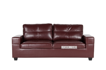 Picture of HONITON Sofa in Burgundy *Air Leather