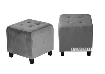 Picture of BEN Fabric Ottoman *Velvet Taupe