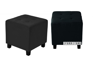 Picture of BEN Fabric Ottoman *Black Velvet