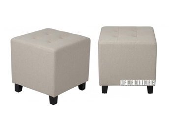 Picture of BEN Fabric Ottoman *Beige Linen