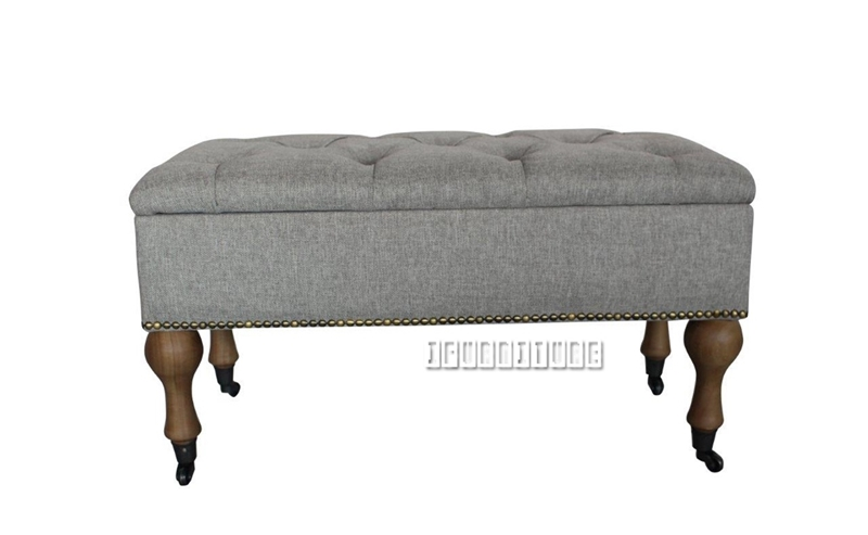 Picture of TRISTAN Fabric Storage Bench with wheels