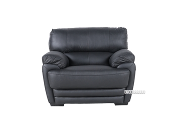 Picture of EALING ARMCHAIR *Genuine Leather Black