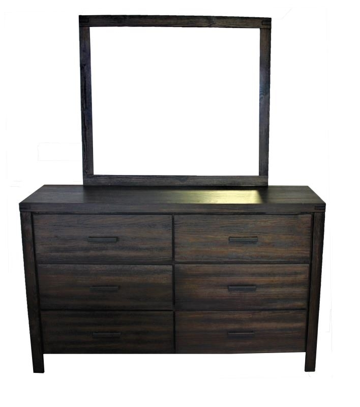 Picture of BURLINGTON 6 DRAWER DRESSER WITH MIRROR