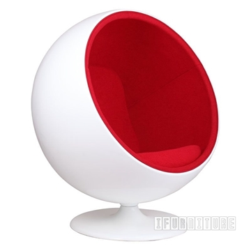 Picture of REPLICA BALL Chair Red * Cashmere & Fiber Glass