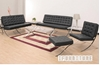 Picture of BARCELONA 100% Italian Leather Lounge Chair and Ottoman