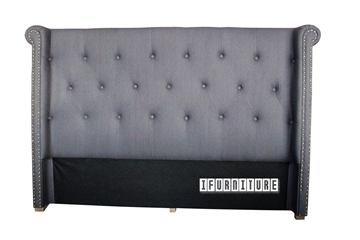 Picture of COPPER Upholstery Headboard in Queen Size *Dark Grey